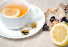 Cup of tea with  lemon Royalty Free Stock Photo