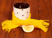 Cup of tea with lemon Stock Image