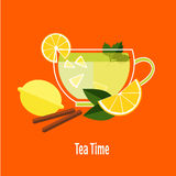 Cup of Tea with Lemon Royalty Free Stock Images