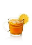 Cup of tea with lemon. On a white background Stock Photography