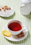Cup with tea and lemon Stock Photography