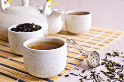 Cup with tea liquid Royalty Free Stock Photo