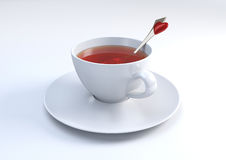 Cup of tea with lovely spoon Royalty Free Stock Photo