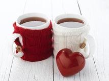 Cup Of Tea For Lovers Stock Images