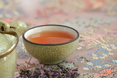 Cup with tea macro shot Royalty Free Stock Images