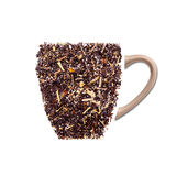 Cup of tea made from black tea leaves Stock Images
