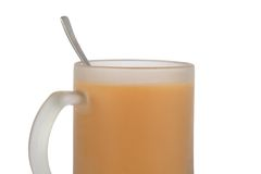 Cup of tea with milk Royalty Free Stock Image