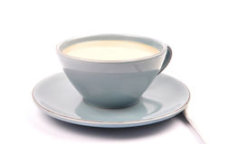 Cup of tea with milk Royalty Free Stock Photos