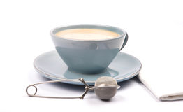 Cup of tea with milk Stock Photography
