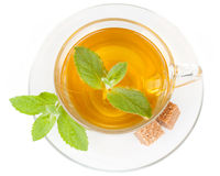 Cup of tea with mint. Royalty Free Stock Photography