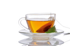 Cup of tea and mint Stock Image