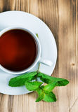 Cup of tea with mint Royalty Free Stock Images
