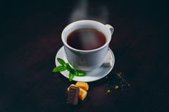 Cup of tea and mint Royalty Free Stock Photos