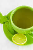 Cup of tea with mint Stock Image