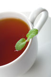 Cup of tea with mint isolated Royalty Free Stock Photos