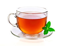 Cup of tea with mint Stock Photo