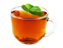 Cup of tea with mint isolated Stock Photography