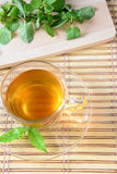 Cup Tea and Mint Leaf Royalty Free Stock Image