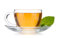 Cup of tea with mint leaves Royalty Free Stock Image