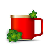 Cup of tea with mint leaves Stock Photo