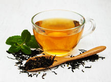 Cup of tea with  mint Royalty Free Stock Photography