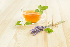 Cup tea with mint. Royalty Free Stock Images