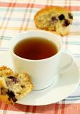 cup of tea and muffin Stock Photo