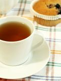 cup of tea and muffin Stock Image