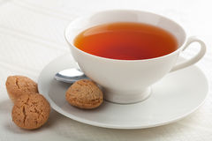 Cup of tea and muffins Royalty Free Stock Photo