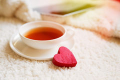 Cup of tea for my love Stock Photography