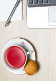 Cup of tea in office Stock Image