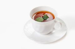 Cup of tea over white Stock Photography