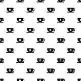 Cup of tea pattern, simple style Royalty Free Stock Photography