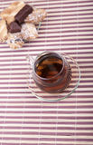 A cup of tea with a plate with cookies Royalty Free Stock Photography