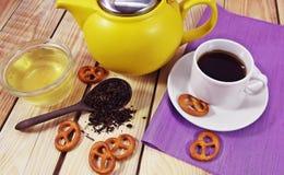 Cup of tea a pleasure. Stock Photo