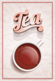 Cup of Tea Poster template Stock Photography