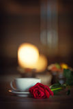 Cup of tea, romantic atmosphere Royalty Free Stock Photos