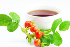 Cup of tea and rosehip Royalty Free Stock Images