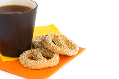 Cup of tea and rusks Royalty Free Stock Photo