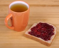 Cup of tea and a sandwich Stock Photo
