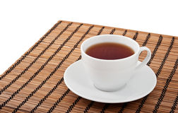 A cup of tea and a saucer Stock Image