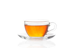 Cup of tea with saucer on white background Stock Photography