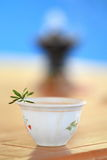 Cup of tea. A cup of tea served in the traditional Ethiopian style Stock Image