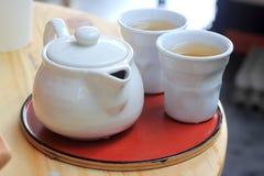 Cup of Tea set Stock Photos