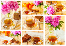 Cup of tea set Royalty Free Stock Images