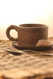 A cup of tea and shugar Stock Photos