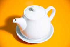 Cup of tea snd teapot Royalty Free Stock Image