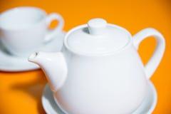 Cup of tea snd teapot Royalty Free Stock Photos