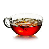 Cup of  tea with splash Royalty Free Stock Photos
