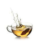 Cup of  tea with splash Royalty Free Stock Photo